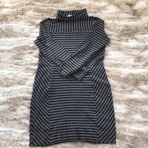 Tory Burch stripe viscose and elastane dress.